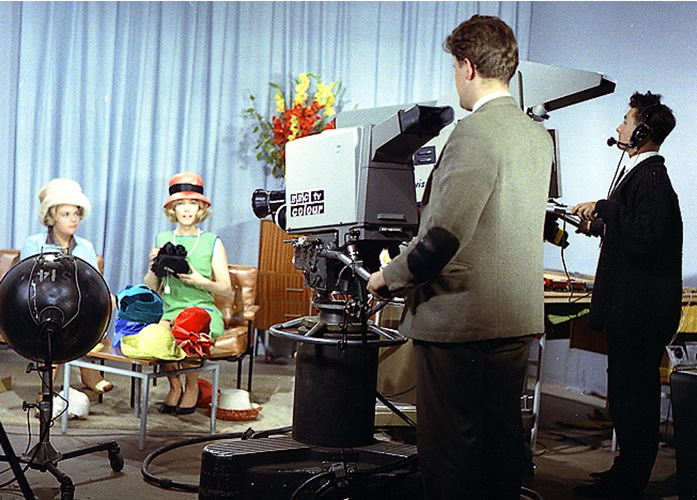 Philips 1963 Experimental Colour Television Camera Test At The BBC
